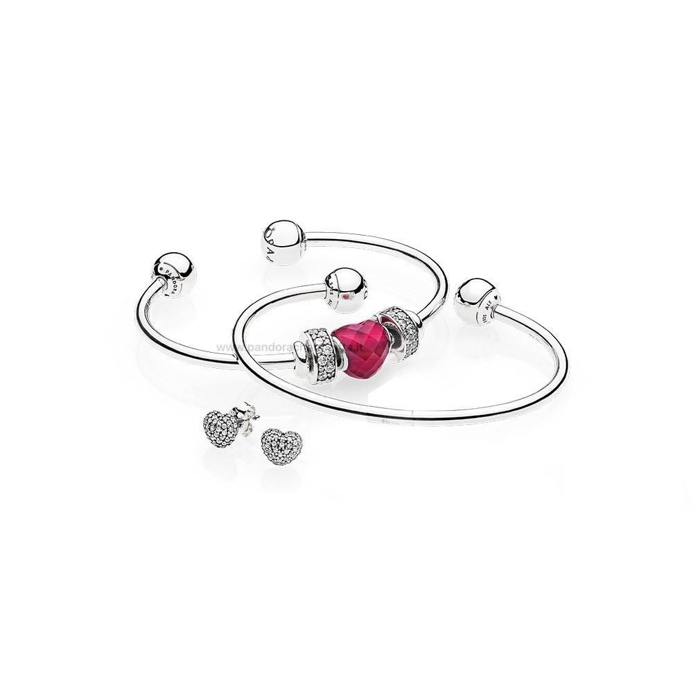 Gioielli Di Pandora Be Mine Stacked Open Bangle Regalo