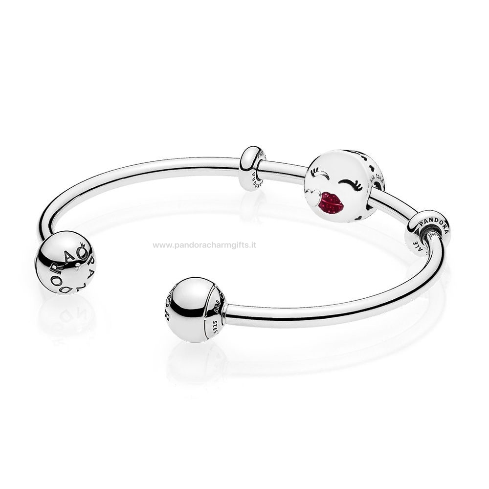 Gioielli Di Pandora Cute Bacio Open Bangle Regalo